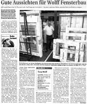 Gute Aussichten für Wolff Fensterbau